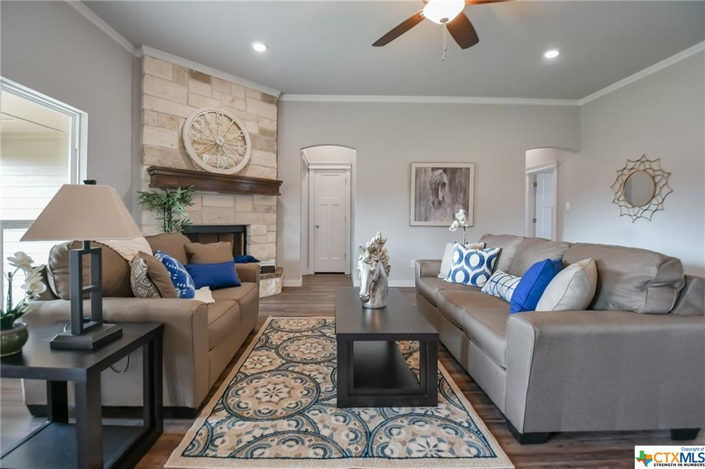 DB Fuller Homes has been bulding homes in Central Texas - this is the family room with fireplace