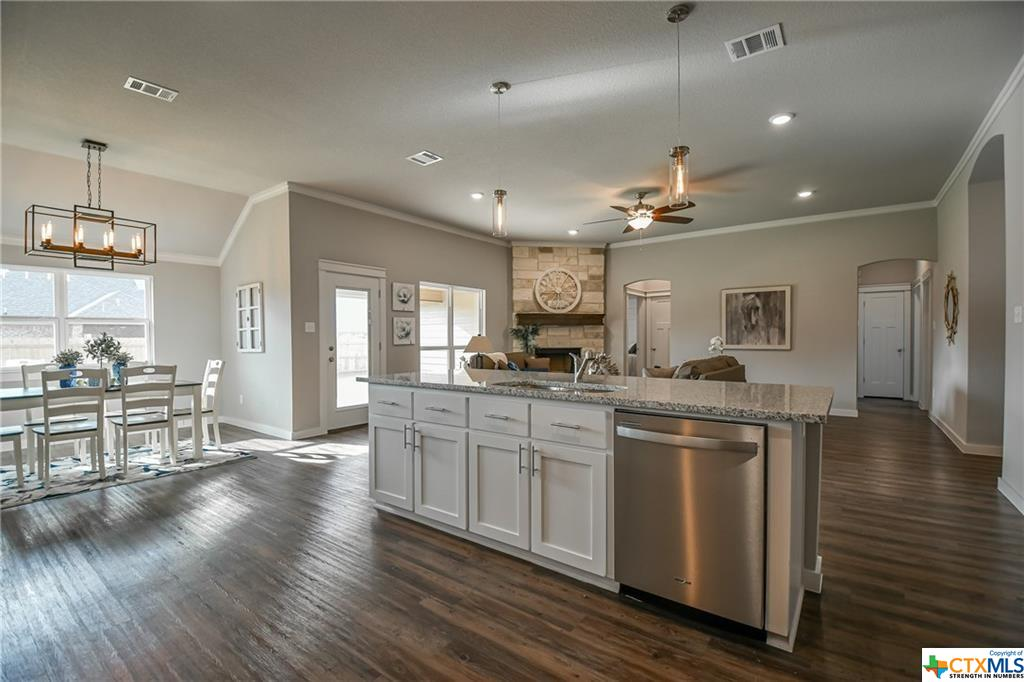 DB Fuller Homes has been building homes in Central Texas - this is the open kitchen and dining room
